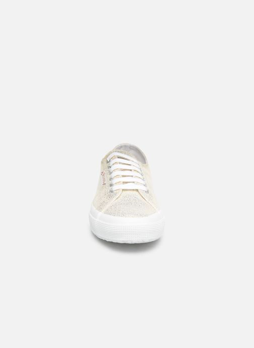 Baskets Superga 2750 Jersey Frost Lame W Or et bronze vue portées chaussures