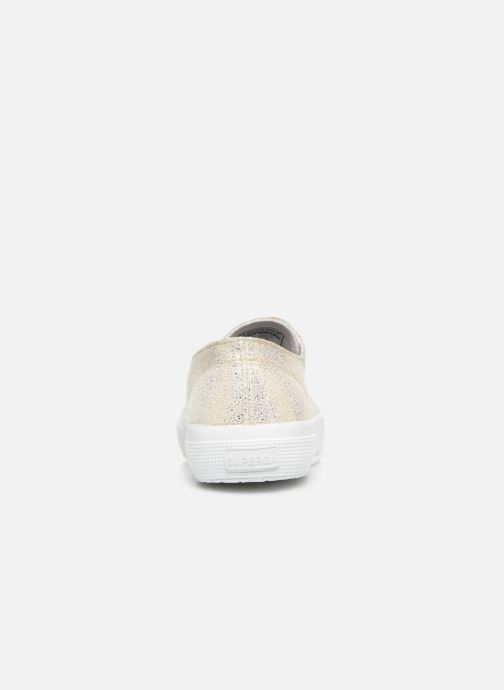 Baskets Superga 2750 Jersey Frost Lame W Or et bronze vue droite