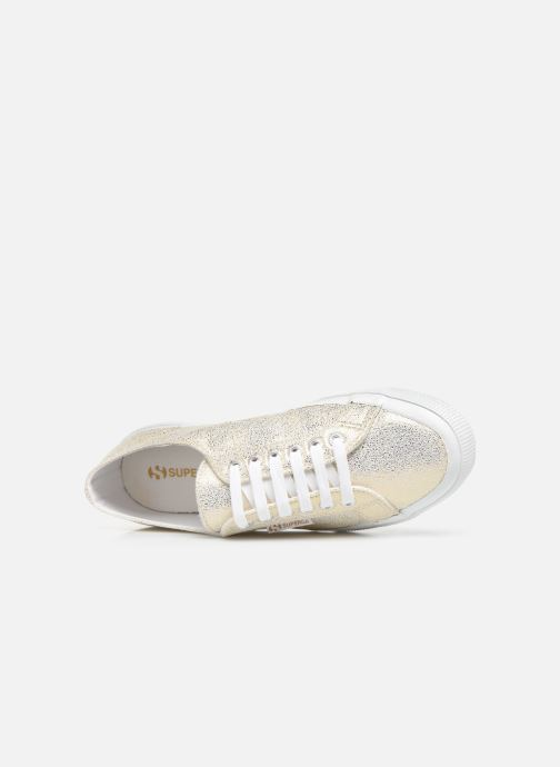 Baskets Superga 2750 Jersey Frost Lame W Or et bronze vue gauche