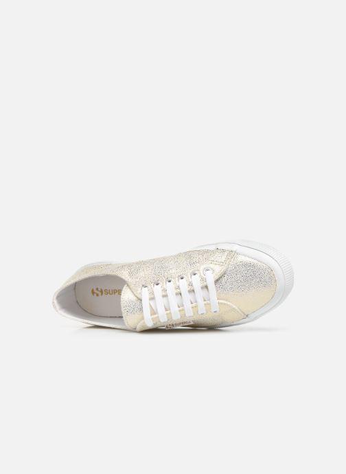 Sneakers Superga 2750 Jersey Frost Lame W Oro e bronzo immagine sinistra
