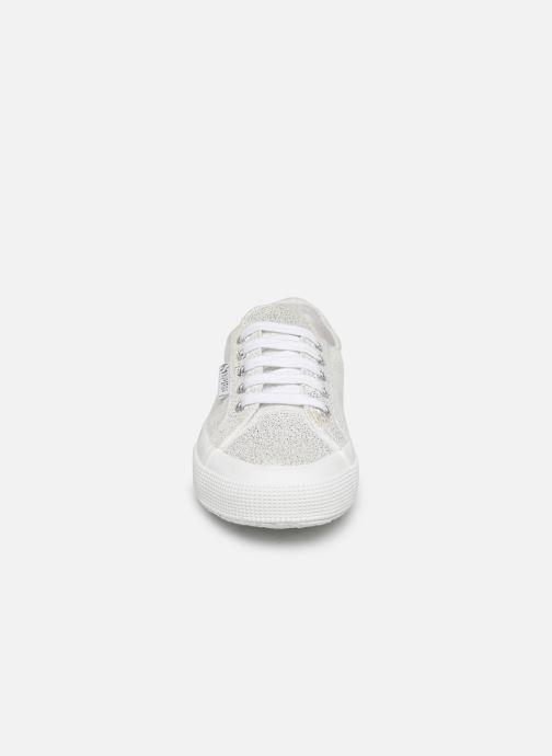 Sneaker Superga 2750 Jersey Frost Lame W silber schuhe getragen