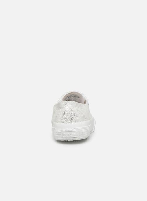 Sneaker Superga 2750 Jersey Frost Lame W silber ansicht von rechts