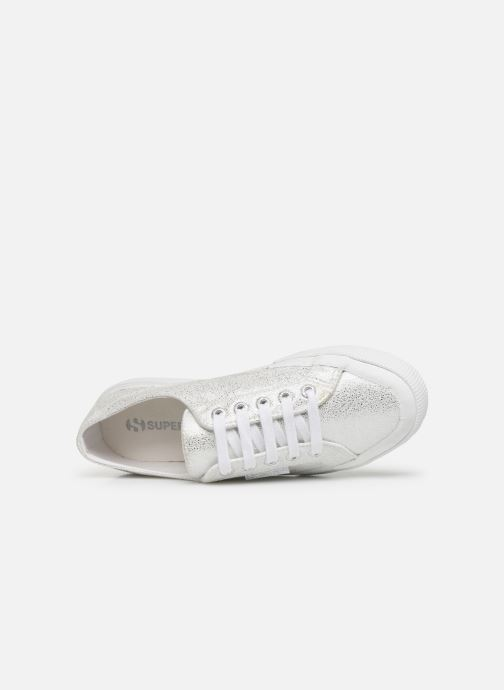 Sneaker Superga 2750 Jersey Frost Lame W silber ansicht von links