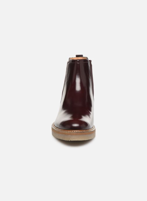 Bottines et boots Kickers OXFORDCHIC 18 Bordeaux vue portées chaussures
