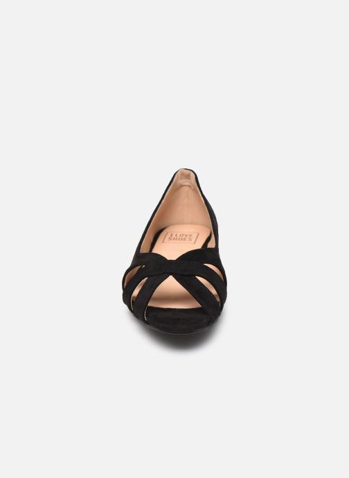 Ballerines I Love Shoes CARRENITA Noir vue portées chaussures