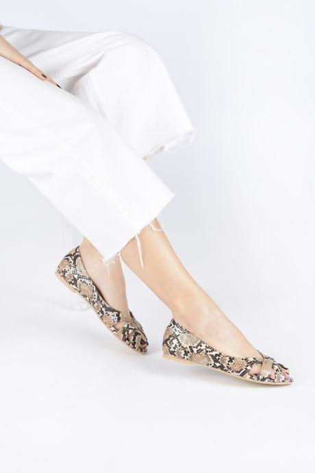 Ballerines I Love Shoes CARRENITA Jaune vue bas / vue portée sac