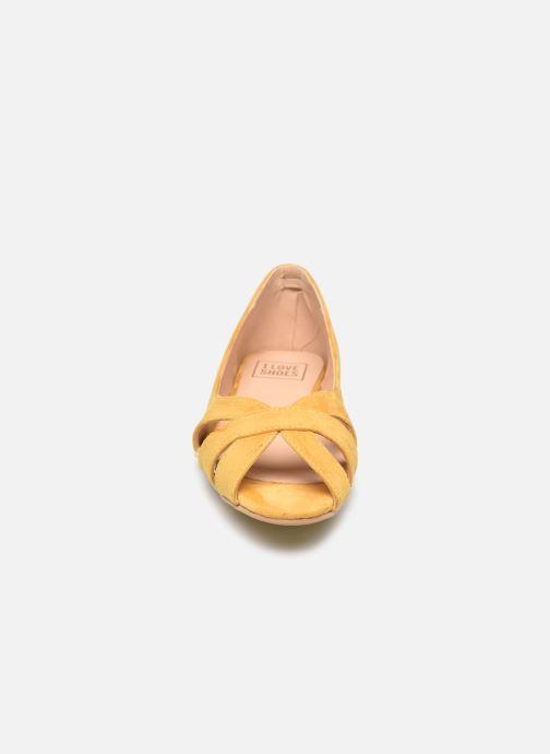 Ballerines I Love Shoes CARRENITA Jaune vue portées chaussures