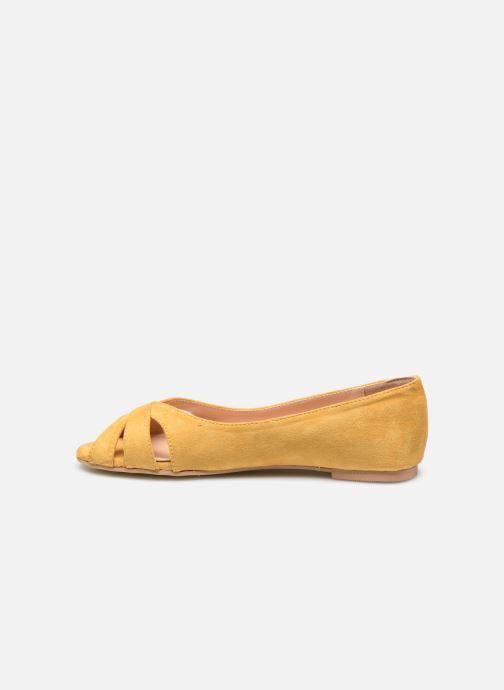 Ballerines I Love Shoes CARRENITA Jaune vue face