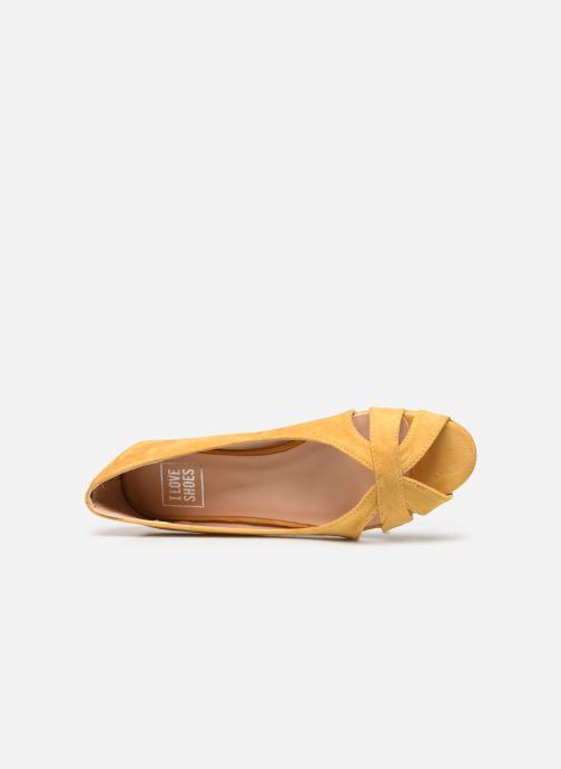 Ballerines I Love Shoes CARRENITA Jaune vue gauche