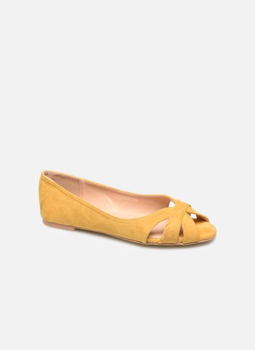 Ballerines I Love Shoes CARRENITA Jaune vue détail/paire