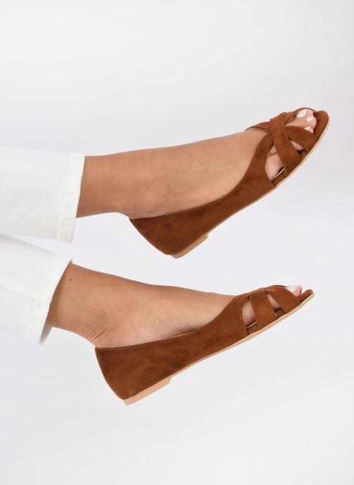 Ballerinas I Love Shoes CARRENITA braun ansicht von unten / tasche getragen