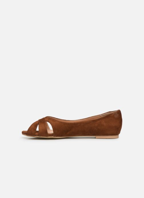Ballerina's I Love Shoes CARRENITA Bruin voorkant
