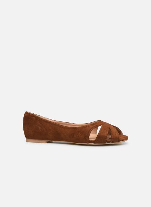 Ballerina's I Love Shoes CARRENITA Bruin achterkant