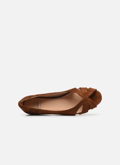 Bailarinas I Love Shoes CARRENITA Marrón vista lateral izquierda