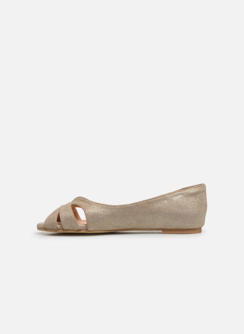 Bailarinas I Love Shoes CARRENITA Oro y bronce vista de frente