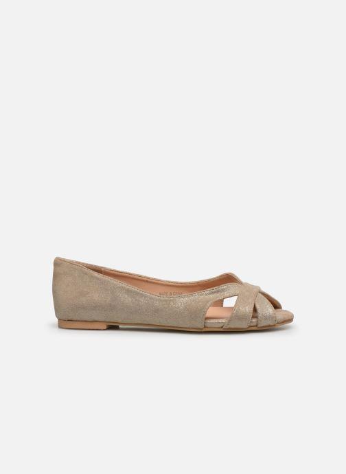 Bailarinas I Love Shoes CARRENITA Oro y bronce vistra trasera