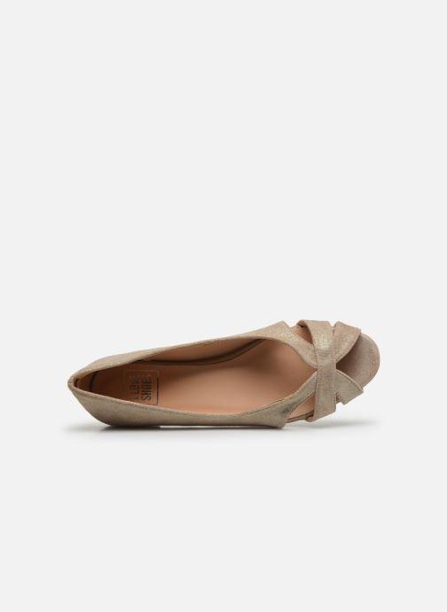 Bailarinas I Love Shoes CARRENITA Oro y bronce vista lateral izquierda