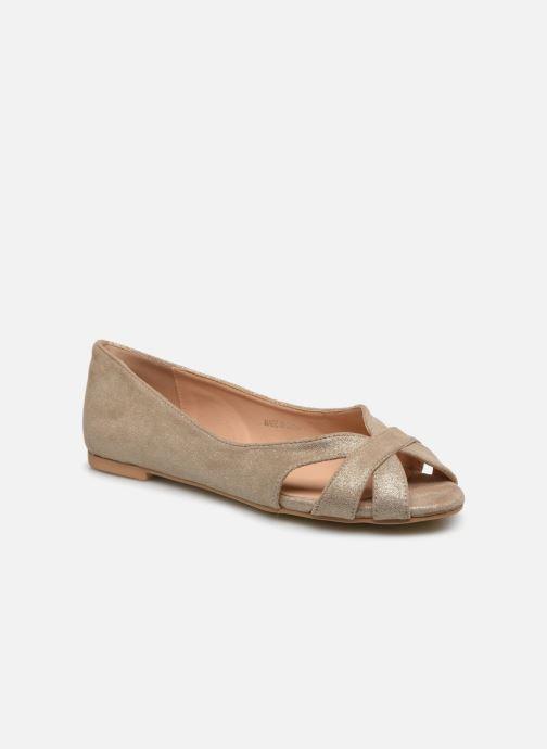 Bailarinas I Love Shoes CARRENITA Oro y bronce vista de detalle / par
