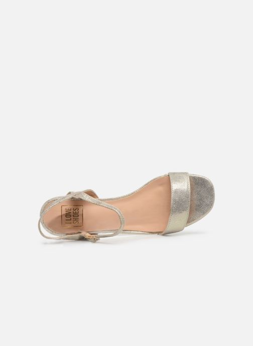 Sandalias I Love Shoes CANANI Oro y bronce vista lateral izquierda