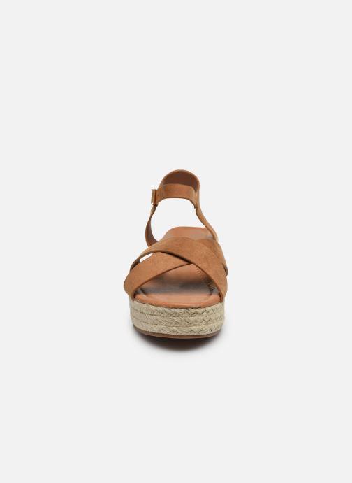 Espadrilles I Love Shoes CAROISA Marron vue portées chaussures