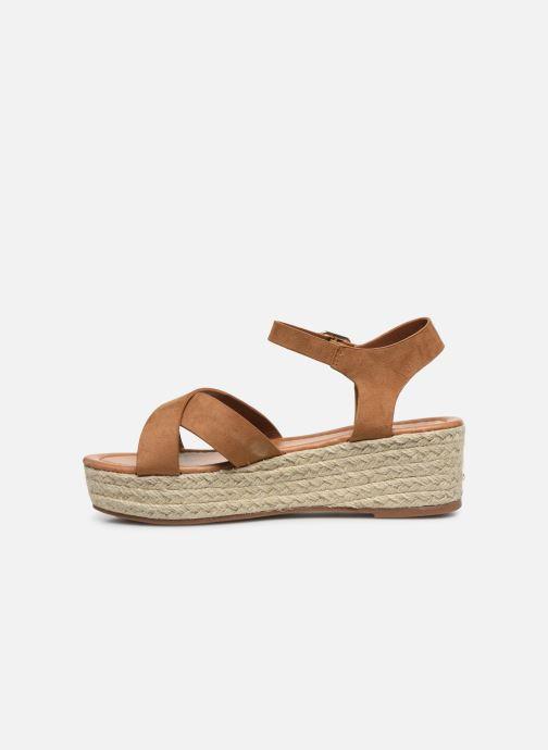 Espadrilles I Love Shoes CAROISA Marron vue face