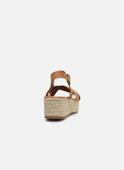 Alpargatas I Love Shoes CAROISA Marrón vista lateral derecha