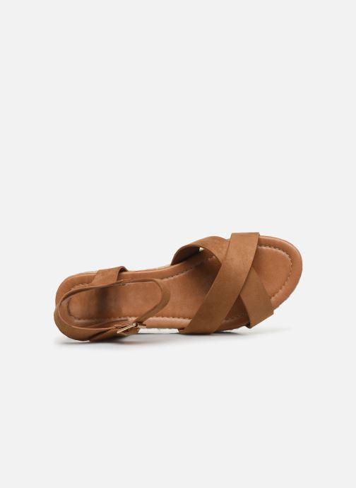 Alpargatas I Love Shoes CAROISA Marrón vista lateral izquierda