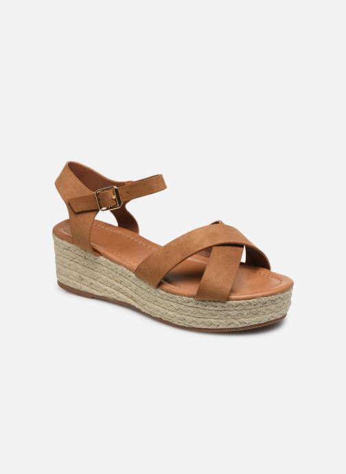 Alpargatas I Love Shoes CAROISA Marrón vista de detalle / par