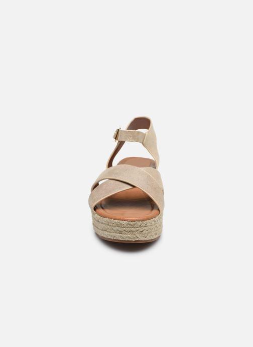Espadrilles I Love Shoes CAROISA Or et bronze vue portées chaussures