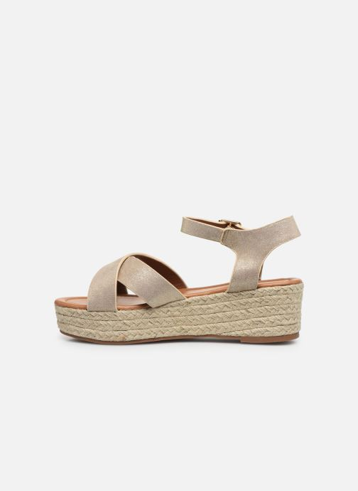 Espadrilles I Love Shoes CAROISA Or et bronze vue face