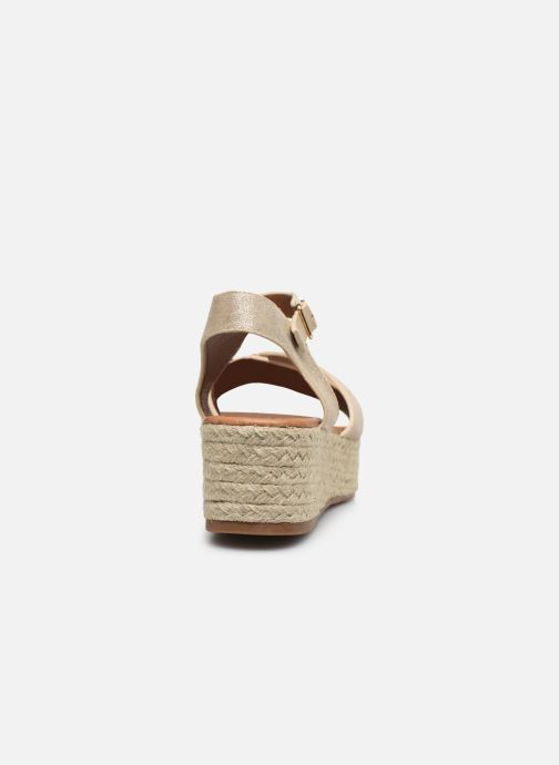 Espadrilles I Love Shoes CAROISA Or et bronze vue droite