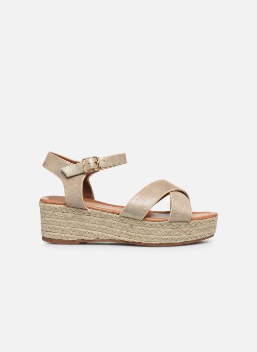 Espadrilles I Love Shoes CAROISA Or et bronze vue derrière