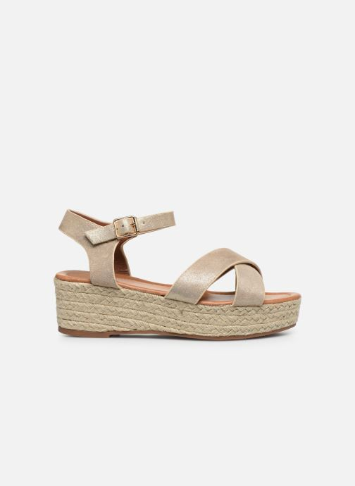 Espadrilles I Love Shoes CAROISA Goud en brons achterkant