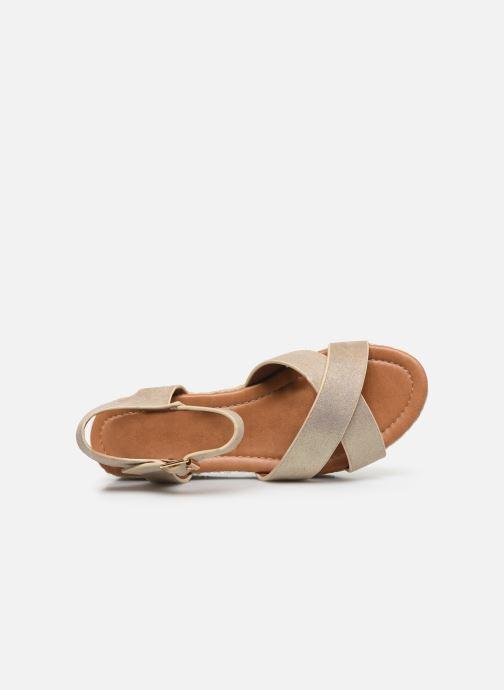 Espadrilles I Love Shoes CAROISA Or et bronze vue gauche