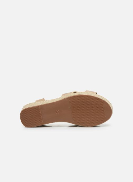 Espadrilles I Love Shoes CAROISA Or et bronze vue haut
