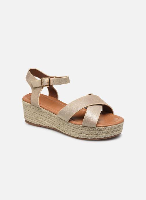 Espadrilles I Love Shoes CAROISA Or et bronze vue détail/paire