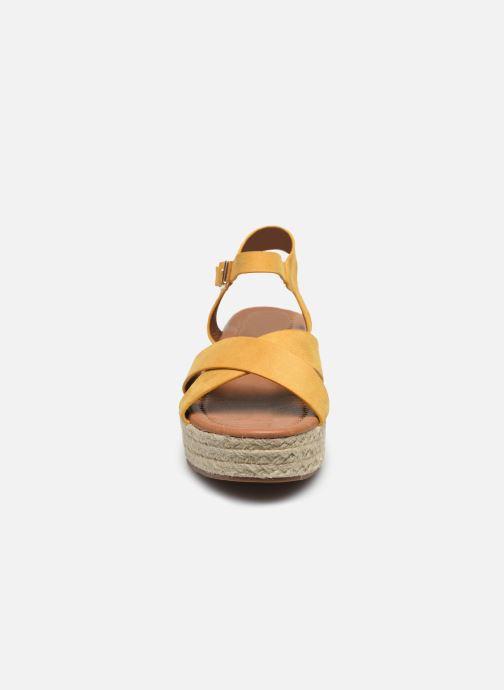 Espadrilles I Love Shoes CAROISA Jaune vue portées chaussures