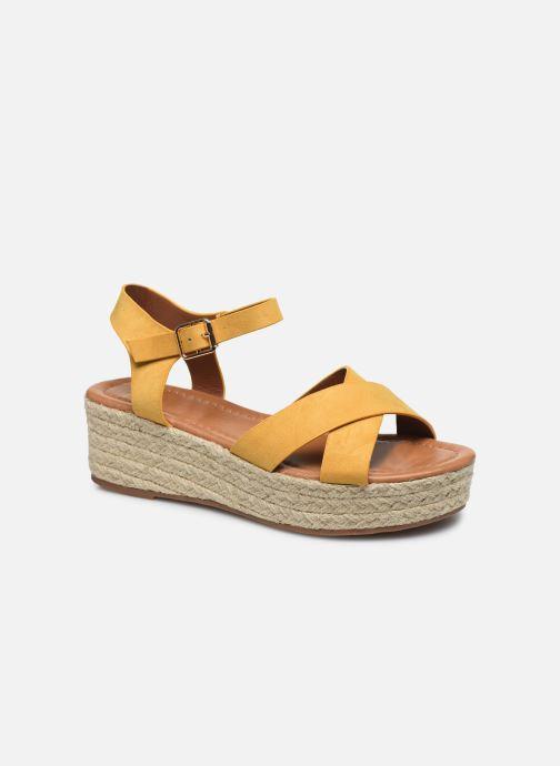 Espadrilles I Love Shoes CAROISA Jaune vue détail/paire
