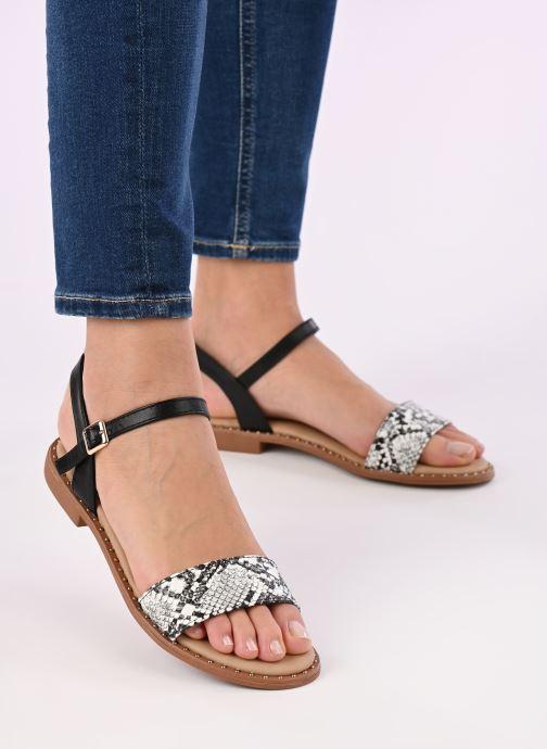 Sandalen I Love Shoes CAUZY weiß ansicht von unten / tasche getragen