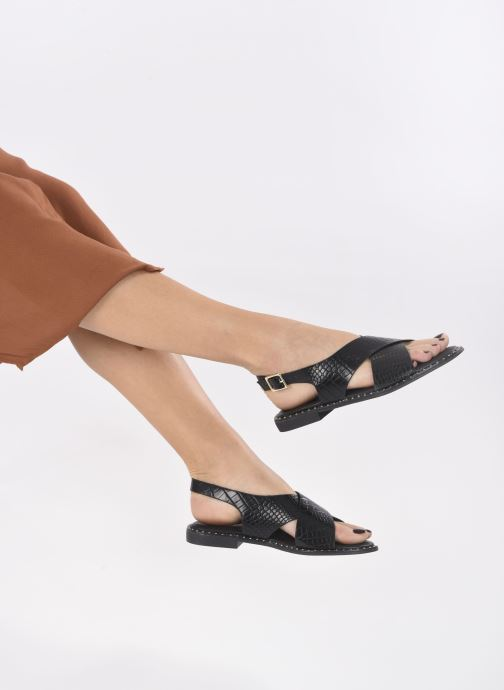 Sandalias I Love Shoes CAPITA Negro vista de abajo
