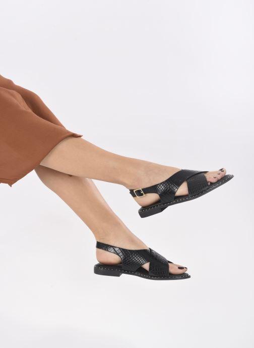 Sandalen I Love Shoes CAPITA schwarz ansicht von unten / tasche getragen