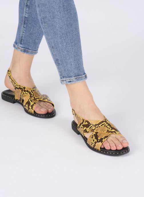 Sandalias I Love Shoes CAPITA Amarillo vista de abajo
