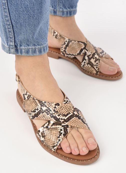 Sandales et nu-pieds I Love Shoes CAPITA Marron vue bas / vue portée sac