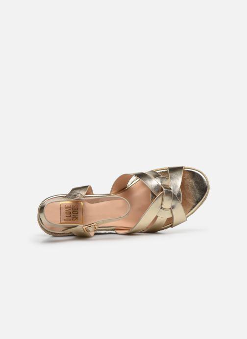 Espadrilles I Love Shoes CAMONE gold/bronze ansicht von links