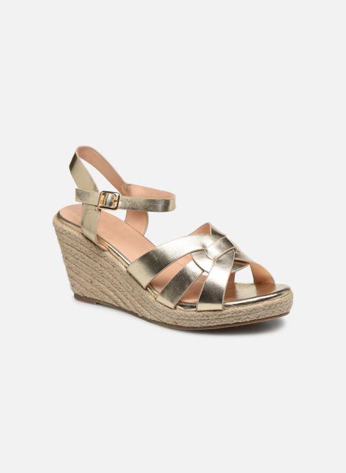 Espadrilles I Love Shoes CAMONE Or et bronze vue détail/paire