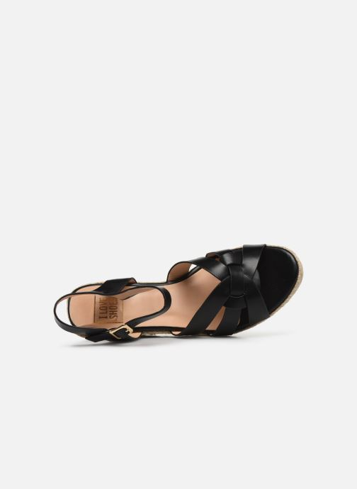 Alpargatas I Love Shoes CAMONE Negro vista lateral izquierda
