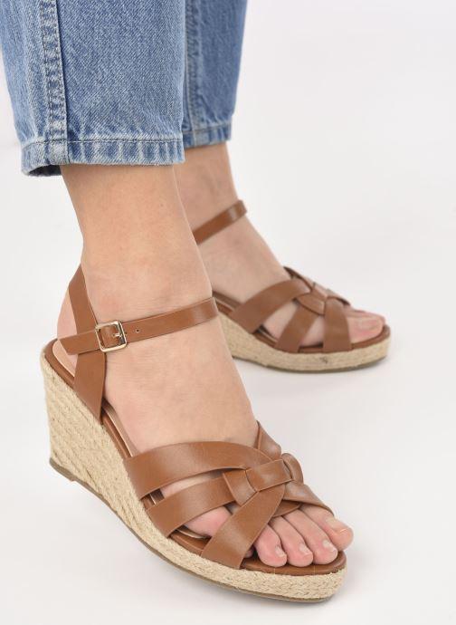 Alpargatas I Love Shoes CAMONE Marrón vista de abajo