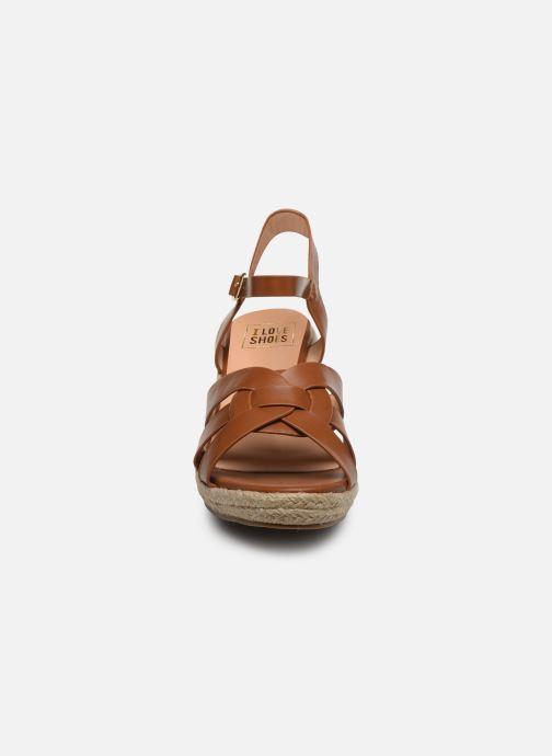 Espadrilles I Love Shoes CAMONE Marron vue portées chaussures