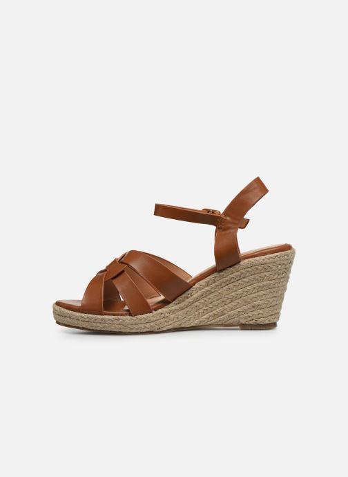 Alpargatas I Love Shoes CAMONE Marrón vista de frente
