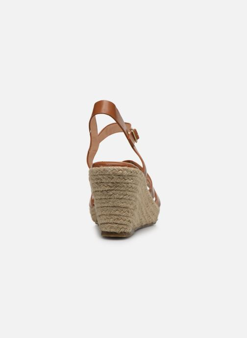 Alpargatas I Love Shoes CAMONE Marrón vista lateral derecha